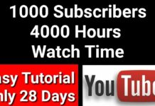 How To Get 1000 Subscriber And 4000 Hours Watch Time 2019 | 1000 subscribers & 4000 hour watch time