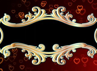 Wedding Heart Moving Animation Title Frame || Moving Love Heart Effect